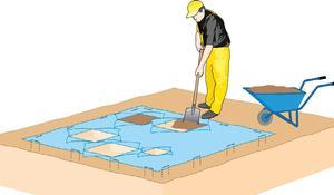 KROK I -  Przygotowanie gleby i pokrycie jej włókniną