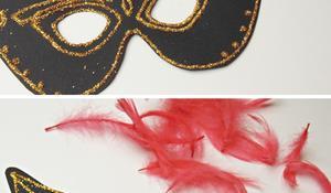 KROK V – Ozdabianie maski cyrkoniami i piórami
