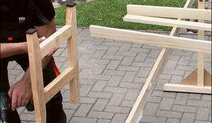 KROK I - Wykonywanie nóg drewnianej ławki